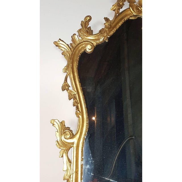 20th Century Italian Baroque Style Carved Gilded Wood Console Table With Mirror For Sale - Image 6 of 11