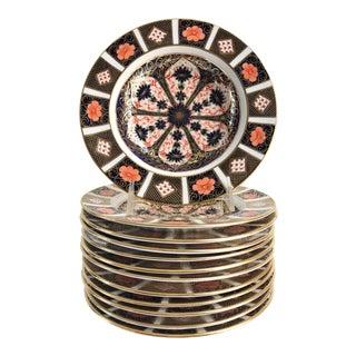 Royal Crown Derby Imari Pattern Dinner Bowls - Set of 12 For Sale
