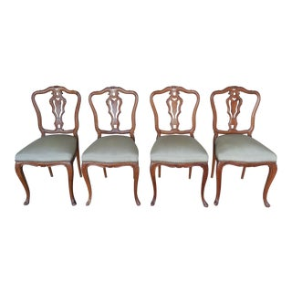 French Provincial Louis XV Style Chairs - Set of 4
