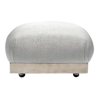 Hollywood Regency Oversized Ottoman or Pouf With Soufflé Design For Sale