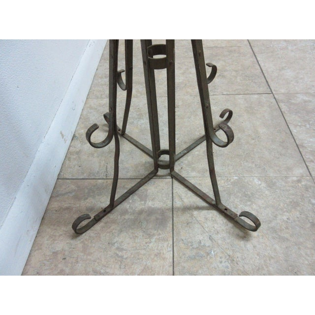 Antique Wrought Iron Scroll Flag Pole Music Stand Ceremonial For Sale - Image 10 of 11