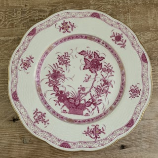 Antique Raspberry Indian Basket Geo. Rouard Limoges Dinner Plates- Set of 3 Preview