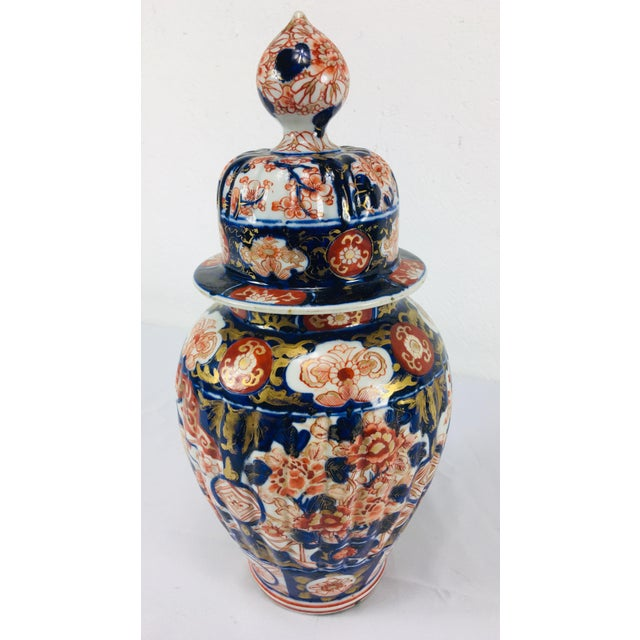 19th Century Hand Painted Japanese Vase With Lid For Sale - Image 11 of 11