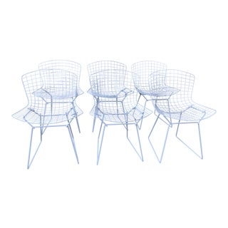 Vintage Original Wire Chairs by Harry Bertoia for Knoll - Set of 6 For Sale