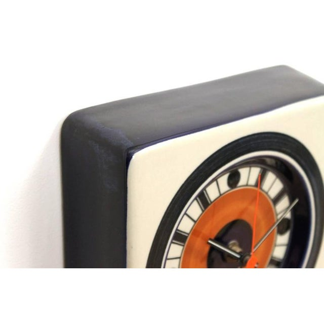 Rorstrand Ceramic Clock Designed by Marianne Westman For Sale In Boston - Image 6 of 10