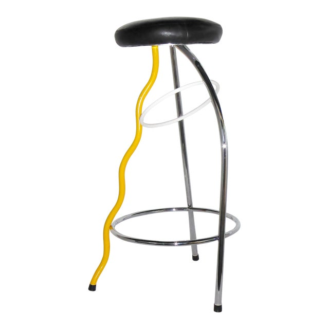 Memphis Duplex Stool by Javier Mariscal Spain, Late 1970s For Sale
