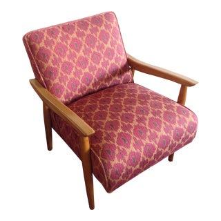 1960s Vintage Pink Orange Chair For Sale