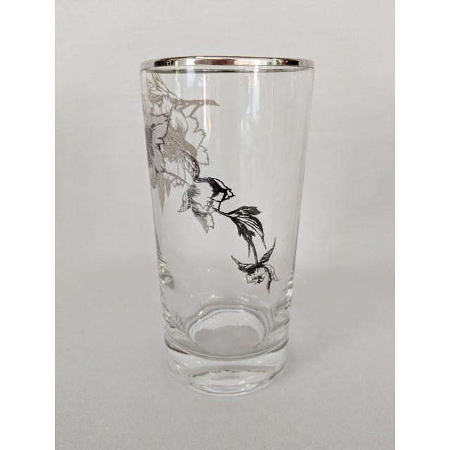 Glass Sterling Silver Overlay Highboy Glasses - Set of 10 For Sale - Image 7 of 9