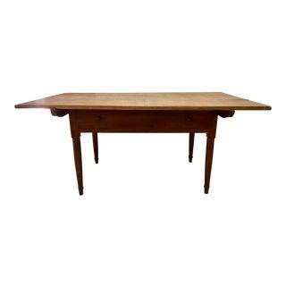 Antique Heart Pine Tilt-Top Work Table
