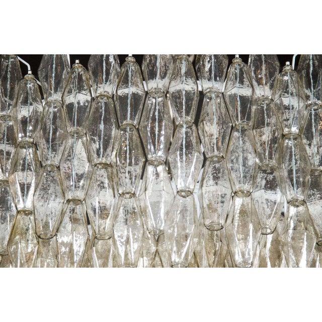 Murano, Venini & Co. Impressive Handblown Smoked Murano Glass Polyhedral Chandelier by Venini For Sale - Image 4 of 7