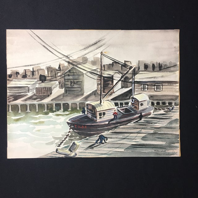 1952 Marine Watercolor Unframed - Image 2 of 7