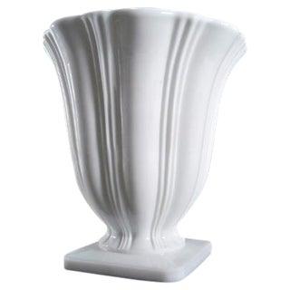 Art Deco Milk Glass Planter Urn Vase For Sale
