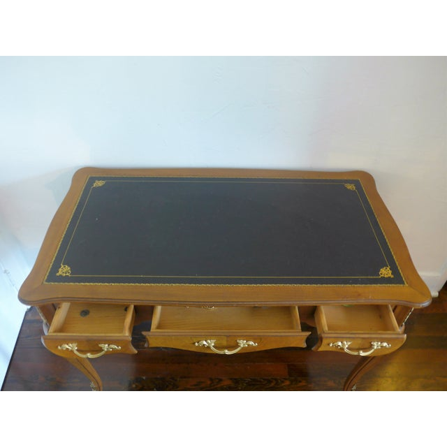 1960's Leather Top Writing Desk For Sale - Image 5 of 10