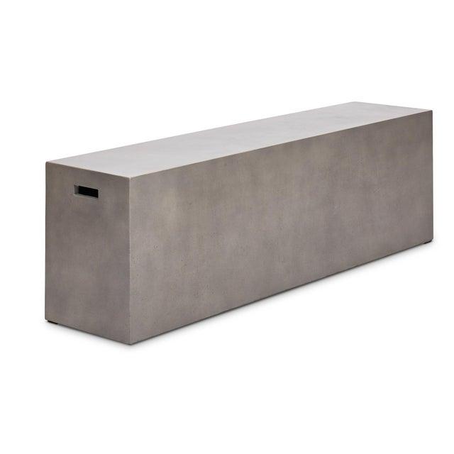 "2010s Una 60"" Bench, Dark Grey For Sale - Image 5 of 5"
