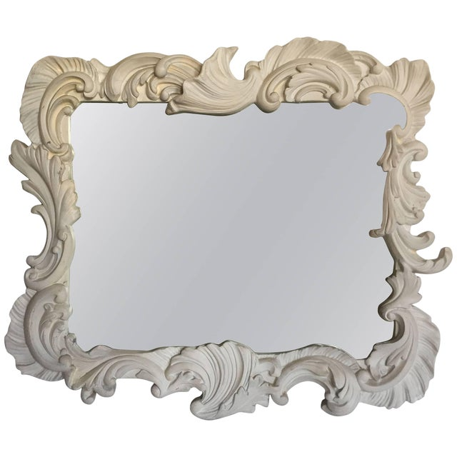 Fabulous Vintage Large Plaster Mirror in the Manner of Dorothy Draper For Sale