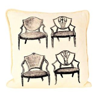 Printed Hepplewhite Chairs Pillow For Sale
