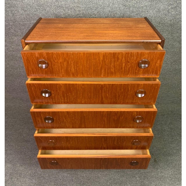 Vintage Danish Mid Century Modern Teak Gentleman's Chest Dresser For Sale - Image 4 of 10