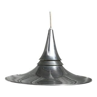 1970s Feldman Lighting Co. Aluminum Witches Hat Pendant Light For Sale