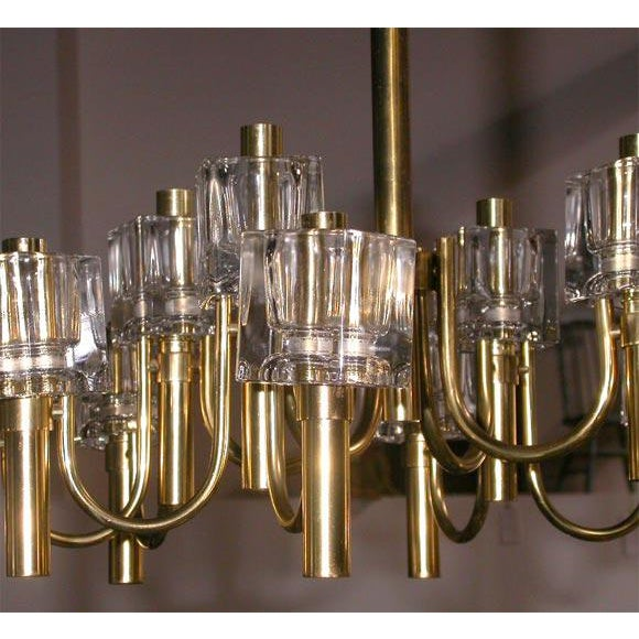 Mid-Century Modern Chandelier, 12 light For Sale - Image 3 of 7