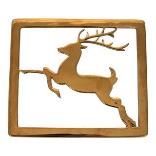 Brass Deer Trivet For Sale