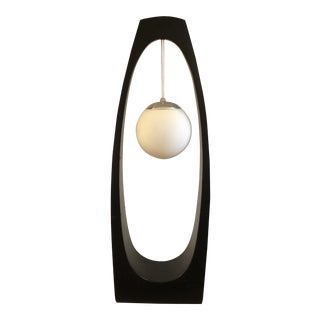 Black Space Age Modeline Floor Lamp For Sale