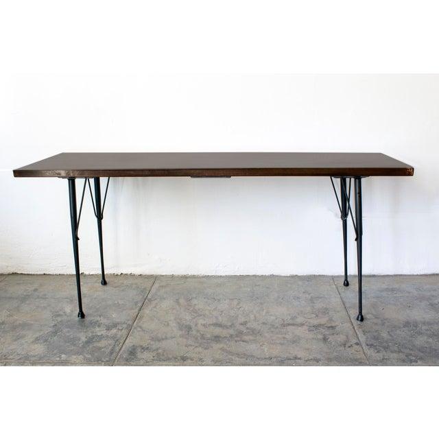 Mid-Century Patina Console Table, Rehab Original - Image 2 of 6
