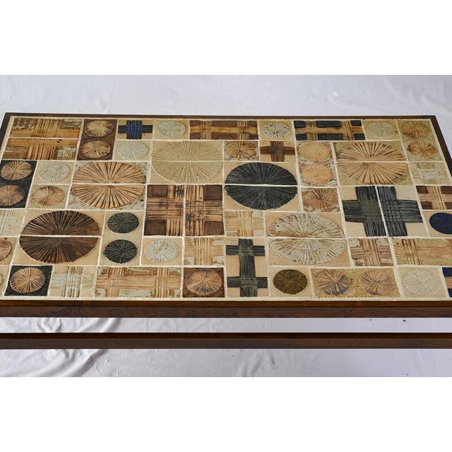 Tue Poulsen Tue Poulsen Tile Coffee Table For Sale - Image 4 of 10