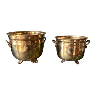 1970s Brass Planters** - a Pair For Sale