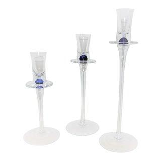 Carlo Moretti Murano Graduating Candlesticks - Set of 3 For Sale