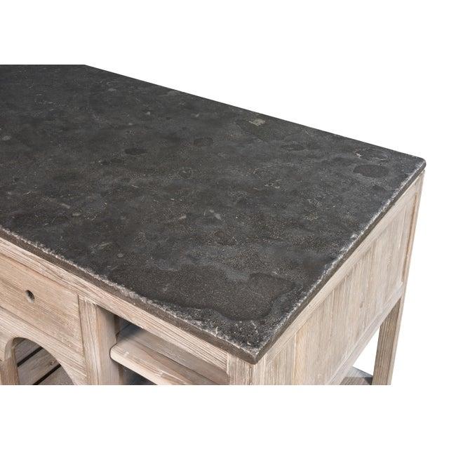 Gray Modern Sarreid Ltd Haymarket Kitchen Island For Sale - Image 8 of 9