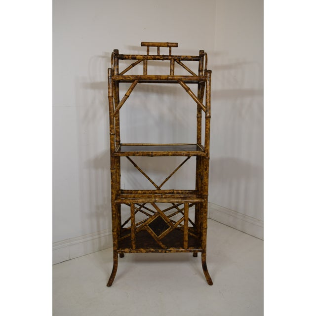 Yellow 19th-Century Bamboo Book Shelf and Magazine Rack For Sale - Image 8 of 8