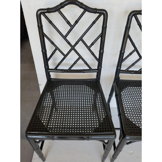 Vintage Wood Chippendale Chairs - Set of 6 For Sale - Image 4 of 7