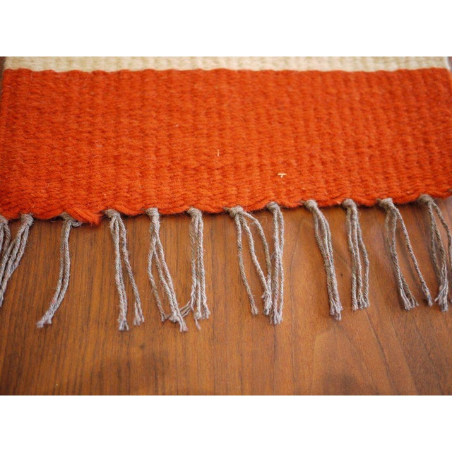 Vintage Woven Table Runner For Sale - Image 5 of 6