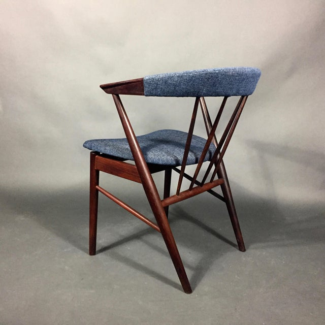 Rosewood Spindle-Back Armchair, Helge Sibast, Denmark 1950s For Sale - Image 10 of 10