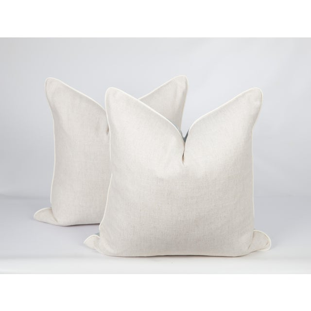 Feather Blue Baxter Ombre Pillows, a Pair For Sale - Image 7 of 8