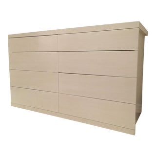 Custom White Oak Eight Drawer Dresser