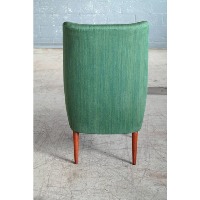 Green Danish 1950's Green Easy Chair With Footstool by Jacob Kjaer For Sale - Image 8 of 12
