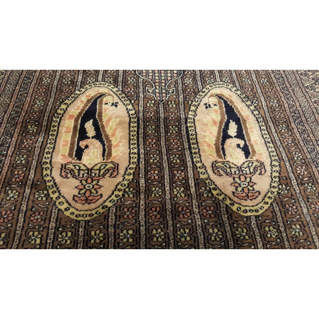 Beautiful beige/brown/black rug made from wool on cotton foundation. The finely knotted craftsmanship gives the rug an...
