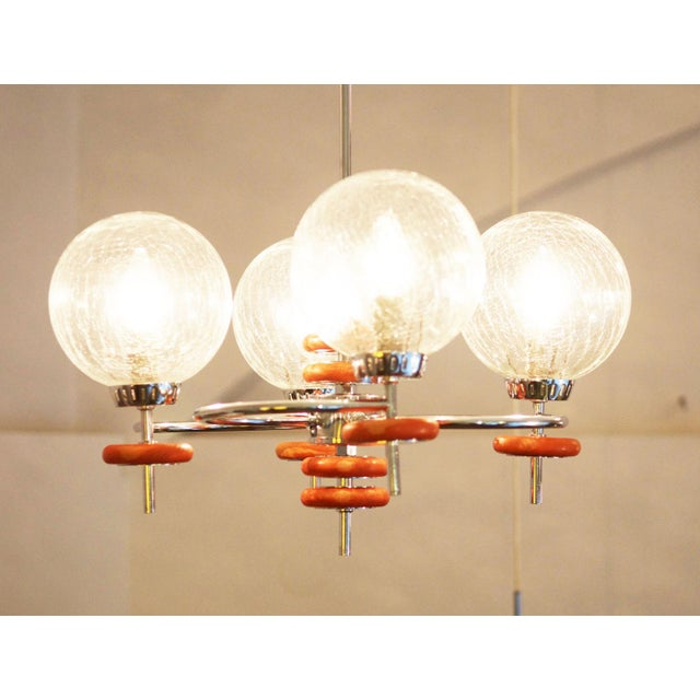 Brass Austrian ceiling lamp, 1970s For Sale - Image 7 of 8