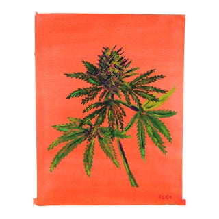 Cannabis Bud Painting by Cleo Plowden For Sale
