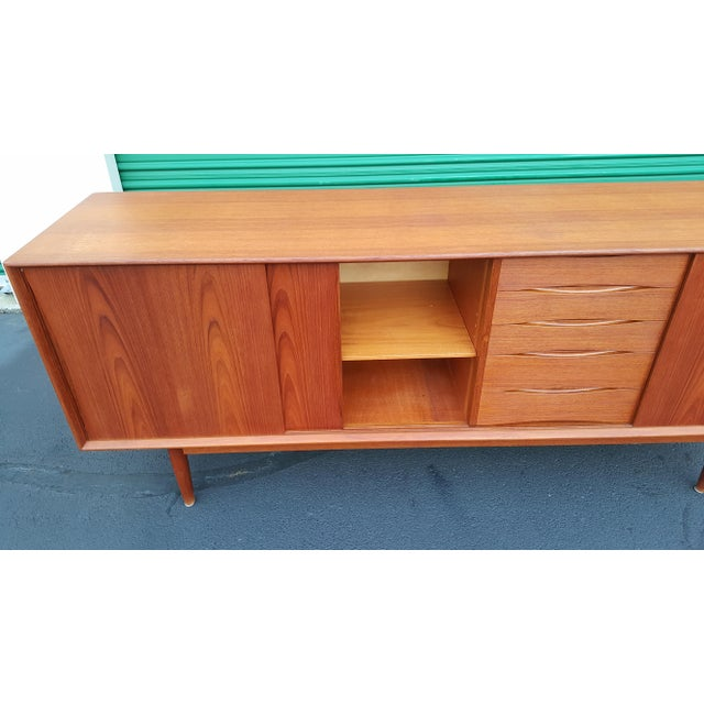 1960s Danish Mid Century Teak Credenza For Sale - Image 6 of 13