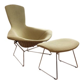 Knoll Bertoia Bird Chair & Ottoman For Sale