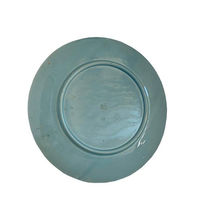 Aqua Majolica Platter, Germany For Sale In Dallas - Image 6 of 9