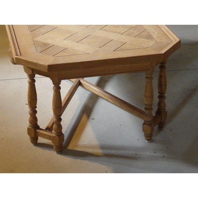 1950s Henredon Rustic Country Coffee Table For Sale - Image 5 of 11