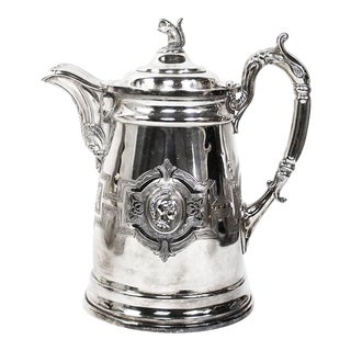 Silver Plated Water Pitcher With Squirrel Finial - c.a. Allen Chicago For Sale