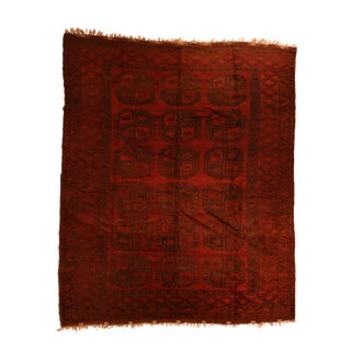 Vintage Afghan Bokara Tribal Rug For Sale