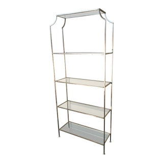 Antiqued Anthem Home Silver Etagere