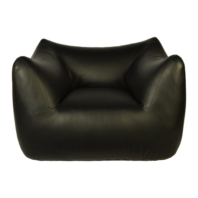 Contemporary 1980s Vintage Overstuffed Lounge Chair For Sale - Image 3 of 6