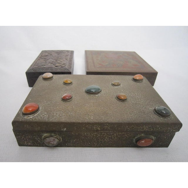 Boho India Boxes - Set of 3 - Image 3 of 6