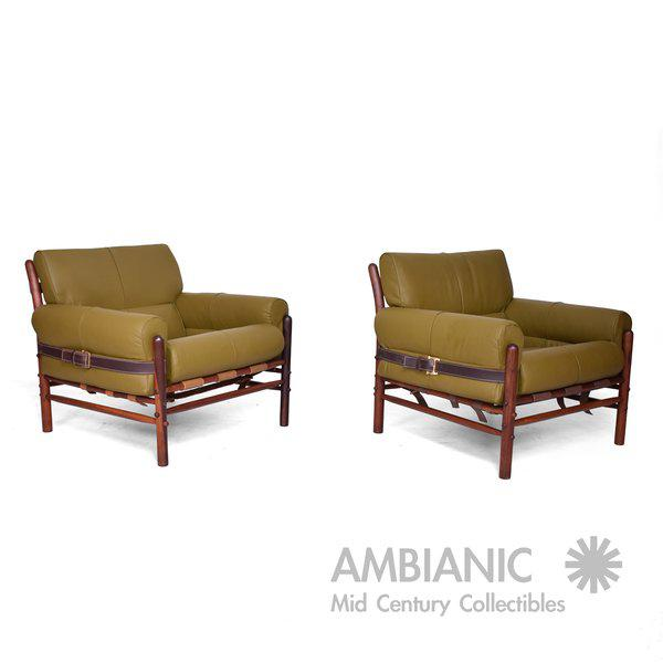 "Arne Norrel ""KONTIKI"" Pair of Safari Chairs - Image 11 of 11"